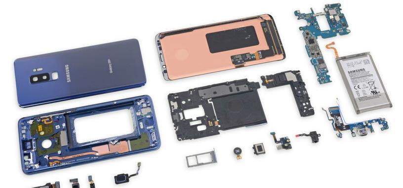 iFixit desmonta un Galaxy S9+, dándole una mala nota de reparabilidad