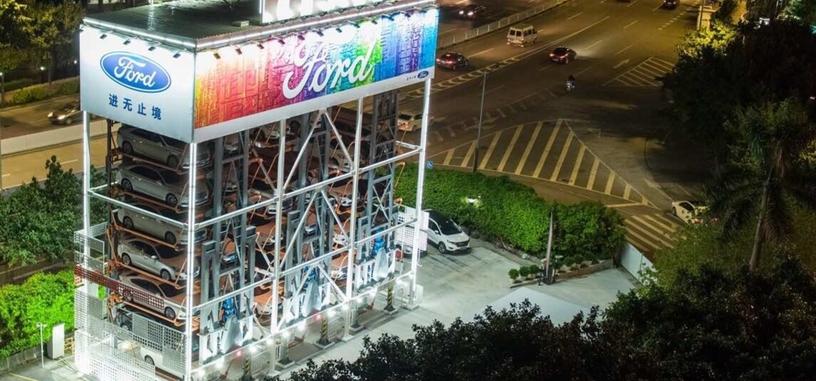 Ford y Alibaba presentan la máquina expendedora que te permite elegir un coche para probarlo