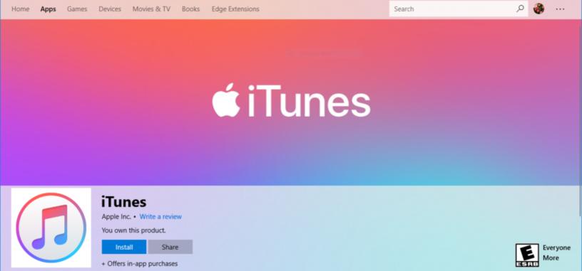 La aplicación de 'iTunes' llega a la Microsoft Store