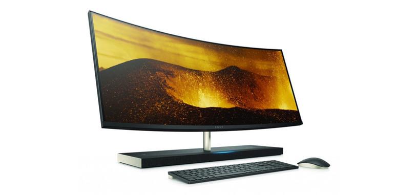 HP renueva su todo en uno ENVY 34 Curved con Alexa, una GTX 1050 y mejor carga inalámbrica