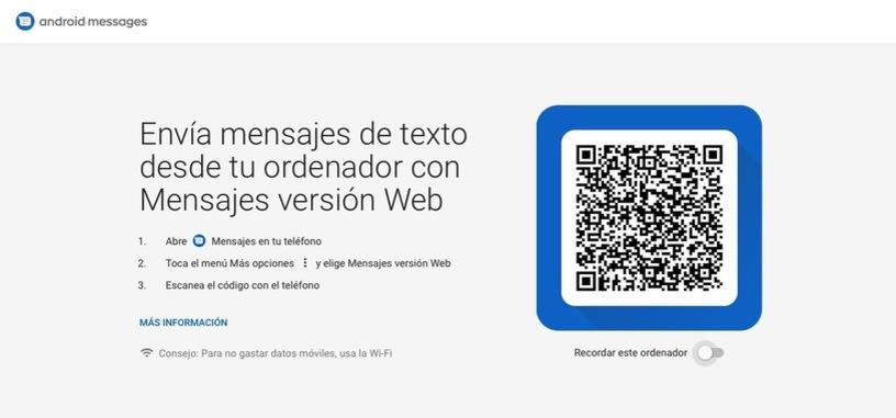Google complementa Mensajes Android con una versión web