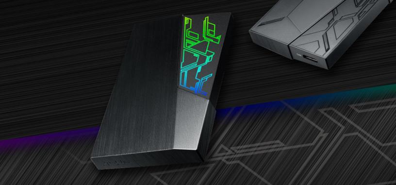 Es lo que querías: disco duro externo FX de ASUS con iluminación RGB
