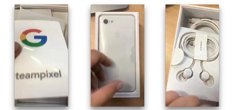 Estas imágenes mostrarían el desembalado de un Pixel 3 XL de Google