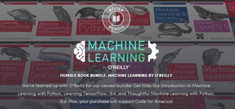 Conviértete en un experto en aprendizaje automático con este 'Humble Bundle' de O'Reilly