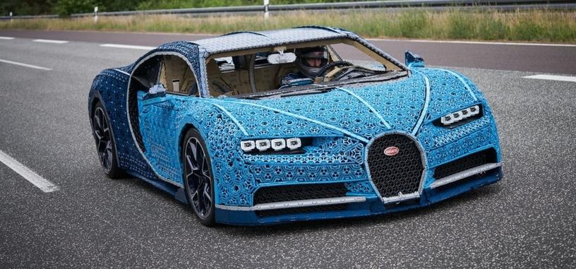 LEGO muestra una réplica funcional del Chiron de Bugatti hecha con piezas de Technic