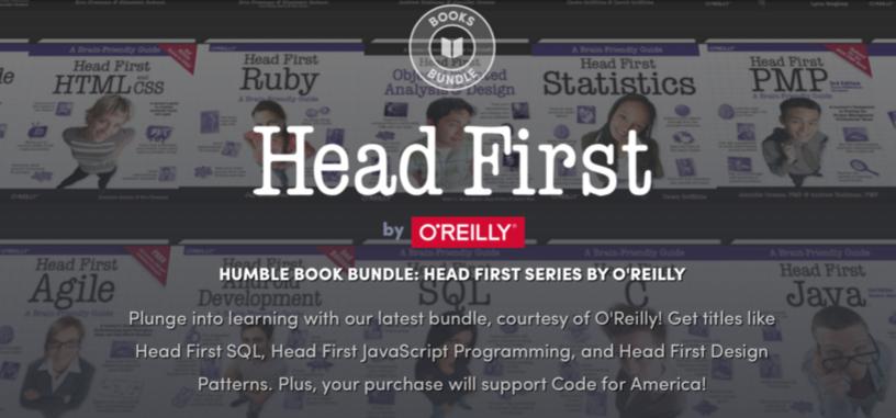 Aprende rápidamente varias tecnologías con este lote de libros 'Head First' de O'Reilly