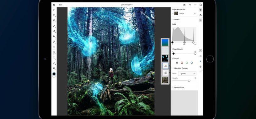 La versión completa de 'Photoshop CC' estará disponible en 2019 para el iPad