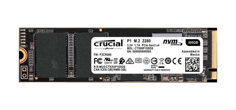 Crucial anuncia la serie P1 de SSD de tipo PCIe con QLC, y orientada al sector económico