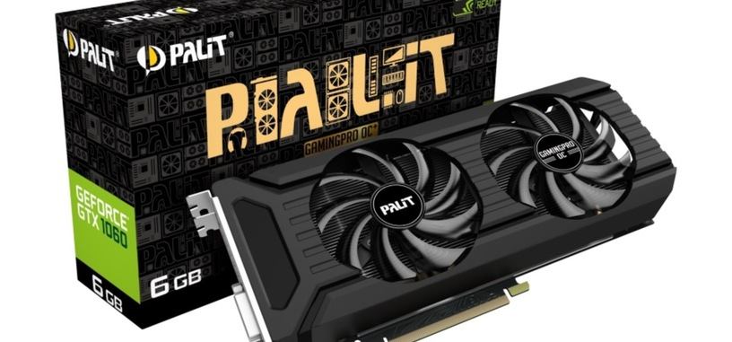Palit anuncia la GTX 1060 GamingPro OC+ con memoria GDDR5X