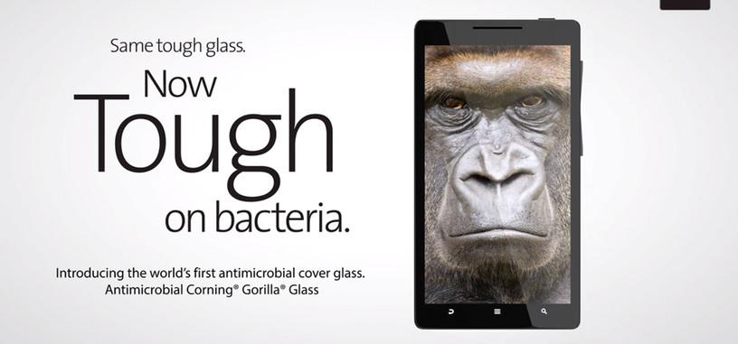Corning presenta un nuevo Gorilla Glass con capacidades antimicrobiales