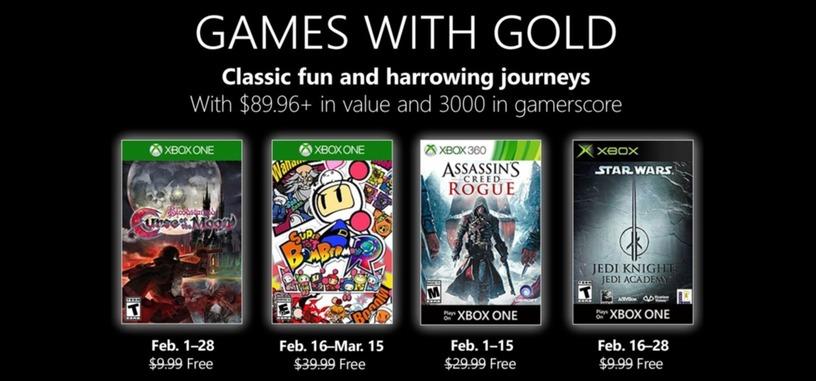 Microsoft confirma los juegos gratis para febrero de Xbox Live Gold
