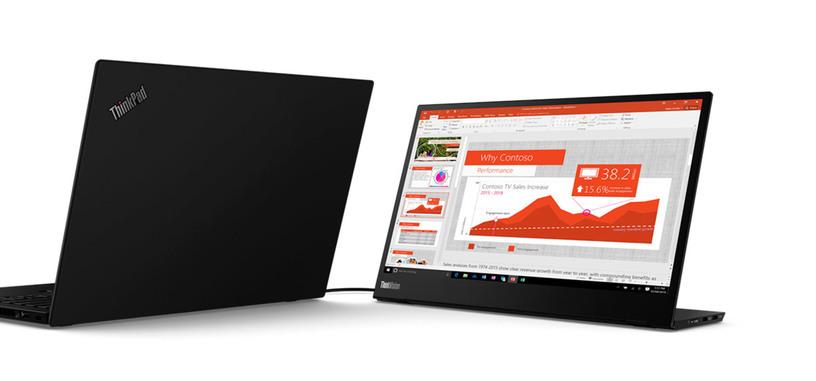 Lenovo presenta el ThinkVision M14, monitor portátil con dos USB tipo C