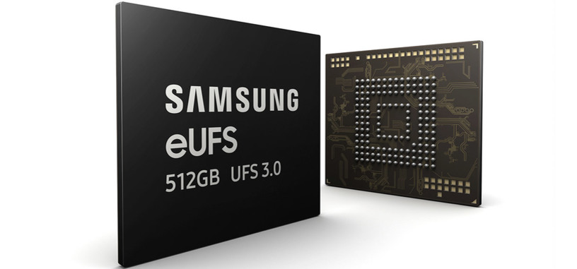 Samsung empieza la producción de chips de memoria UFS 3.0 de 512 GB