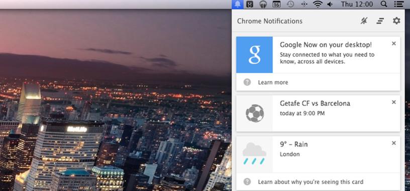 Google Now se deja ver en la nueva beta de Chrome para Mac, Windows y ChromeOS