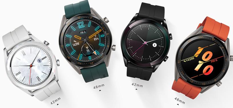 Huawei presenta los Watch GT Active y Elegant