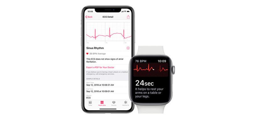 Apple activa el ECG del Watch serie 4 en España y otros países europeos