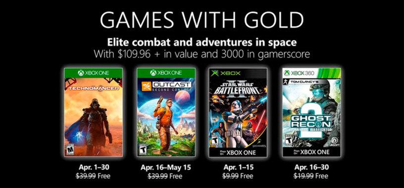 Microsoft confirma los juegos gratis para abril de Xbox Live Gold