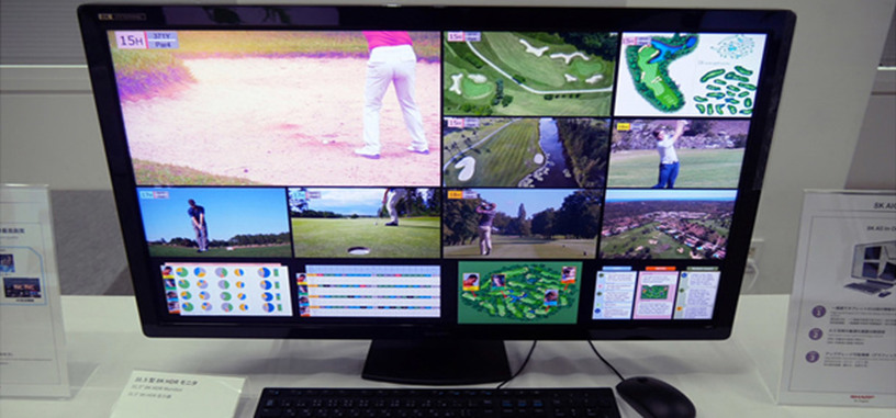 Sharp muestra su monitor HDR de 31.5 pulgadas con 8K y 120 Hz de refresco