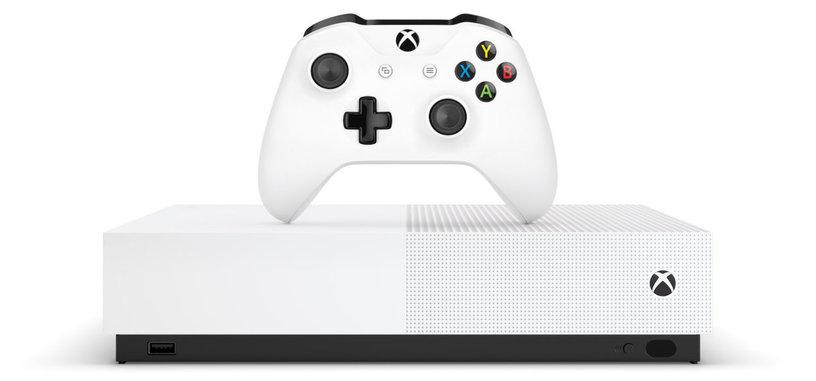 Microsoft anuncia la Xbox One S All-Digital de 230 euros sin lector de discos