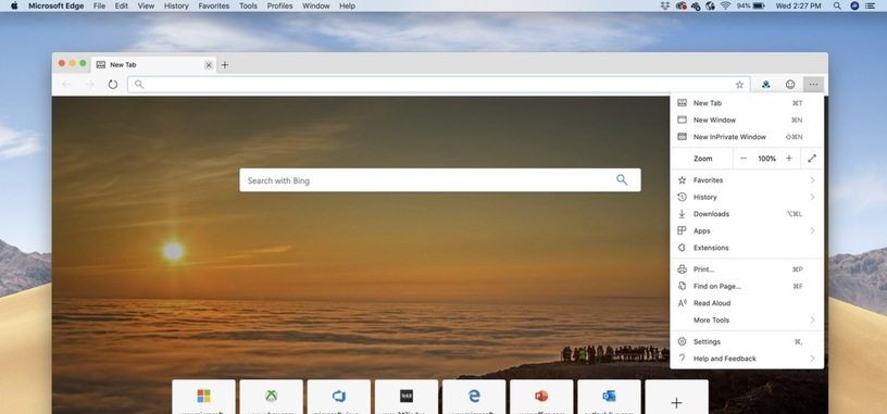 La primera versión del navegador Edge ya está disponible para macOS