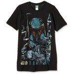 Bravado Star Wars - Boba Fett Sketch-Camiseta Hombre, negro (schwarz 001), XX-Large