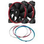 Corsair Air Series SP120 Performance Edition CO-9050008-WW Ventilador para caja de ordenador (120 mm, alto rendimiento) , color Negro, Azul, Rojo, Blanco (2 unidades)