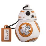 Tribe Disney Star Wars BB8 - Memoria USB 2.0 de 16 GB Pendrive Flash Drive de goma con llavero, multicolor
