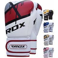 RDX Guantes de Boxeo para Entrenamiento y Muay Thai | Maya Hide Cuero Mitones para Kick Boxing, Sparring | Boxing Gloves para Combate Training, Saco Boxeo