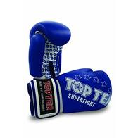 TopTen Superfight Stars - Guantes de Boxeo Unisex, Unisex Adulto, Color Azul, tamaño 10 onzas