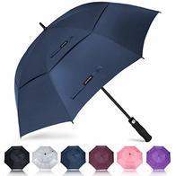 ZOMAKE Golf Umbrella 68 Inch, Large Windproof Umbrellas Automatic Open Oversize Rain Umbrella with Double Canopy for Men Women - Vented Stick Umbrellas