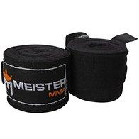 Meister - Bandas semielásticas para Artes Marciales Mixtas (180 cm), Color Negro