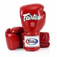 Fairtex Super Sparring Guantes BGV5 Solid Black (rojo, 16 onzas)