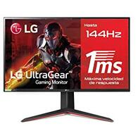 LG 27GN850-B - Monitor Gaming Ultragear de 27'' FullHD (1920x1080, IPS LED, 16:9, HDMI x2, DisplayPort x1, USB, 1ms, 144Hz, altura y rotación ajustable), Negro