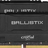 Crucial Ballistix BL2K8G32C16U4B 3200 MHz, DDR4, DRAM, Memoria Gamer para Ordenadores de sobremesa, 16GB (8GB x2), CL16, Negro