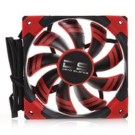 Aerocool DSFAN - Ventilador gaming para PC (12 cm, 12V/7V, 9 aspas, 15.8 dB, iluminación LED rojo, ultrasilencioso, antivibración, vida útil 100.000h), color rojo