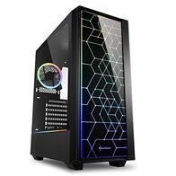 Sharkoon RGB LIT 100 - Caja de Ordenador, PC Gaming, Semitorre ATX, Negro