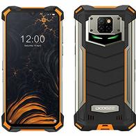 Smartphone Resistente DOOGEE S88 Pro 10000mAh Batería, Octa-Core 6GB+128GB Android 10, Cámara Cuatro 21MP, 6.3''FHD + Corning Gorilla Glass, Carga Inalámbrica, IP68 Teléfono Móvil Antigolpes Naranja