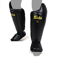 Fairtex Espinilleras SP8 Ultimate para deportes de lucha, Muay Thai, Thai, Kickboxing, espinilleras (M)