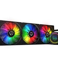 Nox Hummer H-360 -NXHUMMERH360ARGB- Refrigeracion líquida ARGB, compatible con Intel&AMD, 3 ventiladores 120mm PMW, radiador triple base aluminio, bomba base cobre, color negro