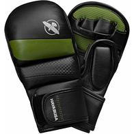 Hayabusa Hybrid T3 - Guantes de kickboxing y MMA, 200 ml, Large, Negro/Verde