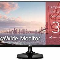 LG 25UM58-P - Monitor Profesional UltraWide WFHD de 63.5 cm (25'') con Panel IPS (2560 x 1080 píxeles, 21:9, 250 cd/m², sRGB >99%, 1000:1, 5 ms GtG, 75 Hz, HDMIx2, Auriculares) Color Negro