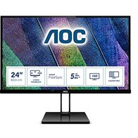 AOC 24V2Q – Monitor de 24'' Full HD (1920x1080, 75 Hz, IPS, FreeSync, 250 cd/m, HDMI 1x1.4, Displayport 1x1.2) Negro