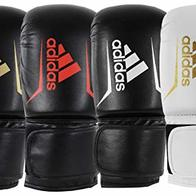 adidas Speed 50 Guantes de Boxeo, Unisex Adulto, Negro y Dorado, 45,5 cl