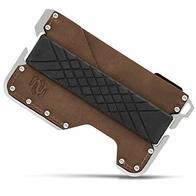 Rango Elegance: Cartera Tarjetero Hombre Minimalista de Piel y Metal (Aluminio) con Protección Antirrobo (Bloqueo RFID/NFC) Carteras Pequeñas y Compactas para 8 Tarjetas Diseñadas en España