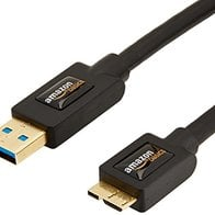 Amazon Basics USB 3.0 Charger Cable - A-Male to Micro-B - 3 Feet (0.9 Meters), Black