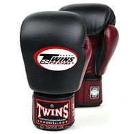 Twins special Guantes de boxeo con velcro para Muay Thai, 2 tonos, color negro, BGVL-3T, 45,5 cl