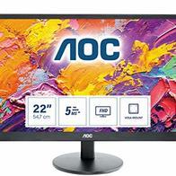 AOC Monitor E2270SWHN - 22'' Full HD, 60 Hz, TN, VESA, 1920x1080, 200 cd/m, D-SUB, HDMI 1x1.4