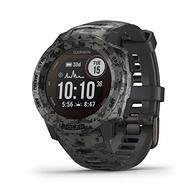 Garmin Instinct Solar, Solar-Powered Rugged Outdoor Smartwatch, Built-in Sports Apps and Health Monitoring, Graphite Camo