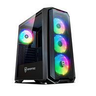 Torre Gaming Nfortec Krater para PC con Cristal Templado y 4 Ventiladores RGB de 120mm incluidos (compatible con placas base de Gigabyte, Asus y MSI) Color Negro