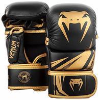 VENUM Challenger 3.0 Guantes de MMA Sparring, Unisex Adulto, Negro/Oro, M